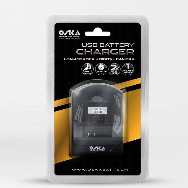OSKA battery charger for Li-92b / Li-90b