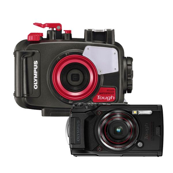 Olympus Tough TG6 + Housing Set (Black, Red)