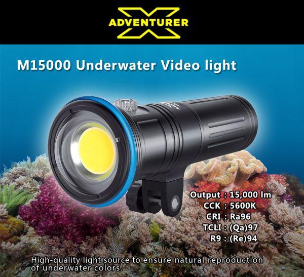 X-adventurer M15000 Undetwater High CRI Photo Video Light